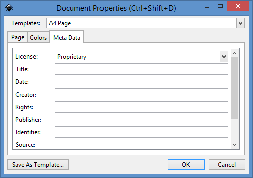 New Document Properties dialog Meta Data tab.png