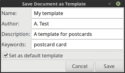 Save current file as a template