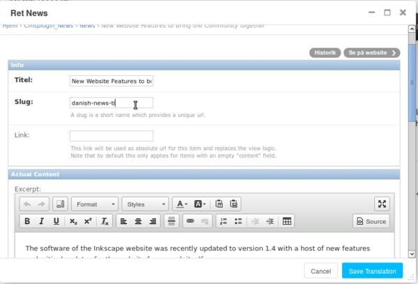WebSite - Inkscape Wiki